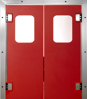 PE trafficdoor Grothaus red