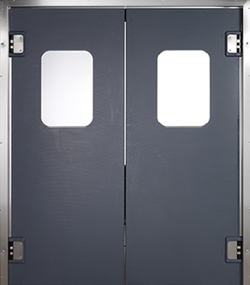 PE trafficdoor Grothaus black double door