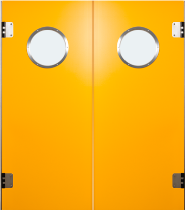 PE trafficdoor Grothaus orange double door