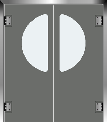 PE trafficdoor Grothaus grey double door